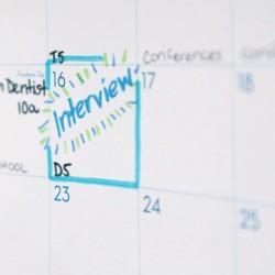 interview set on calendar
