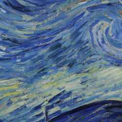 close up of Starry Night