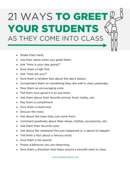 https://artofed-uploads-prod.nyc3.cdn.digitaloceanspaces.com/2017/03/21-Ways-to-Greet-Your-Students-As-They-Come-In-To-Class-2.pdf