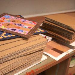 piles of cardboard