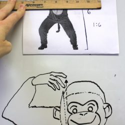 monkey with ruler