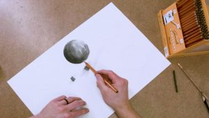 Drawing Using Charcoal