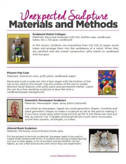 https://artofed-uploads-prod.nyc3.cdn.digitaloceanspaces.com/2017/07/Unexpected-Sculpture-Materials-and-Methods.pdf