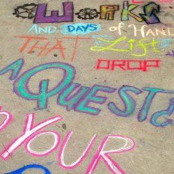 poetry written in chalk