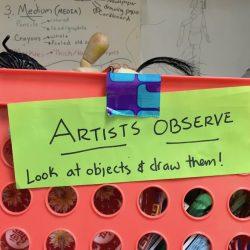 artists observe tub