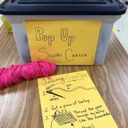 sewing pop up center