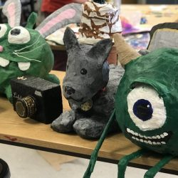 finished student sculptures