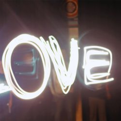"""light painting of the word """"love"""""""