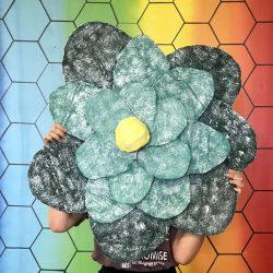 giant flower sculpture