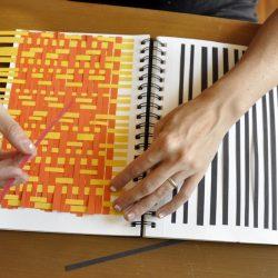 weaving in sketchbook
