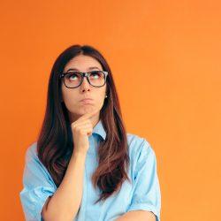 Smart Girl Thinking and Making Strategies