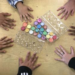 students' hands