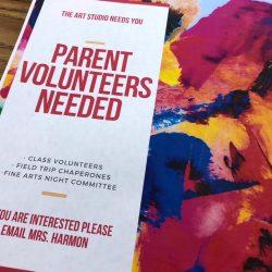 parent volunteers needed sign