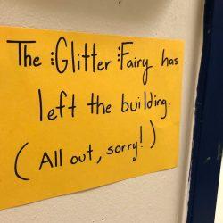 glitter sign