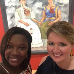 art teachers at an art museum