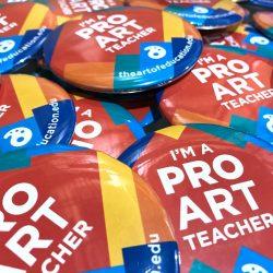 I'm a PRO art teacher buttons
