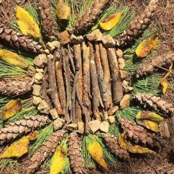 student artwork inspired by Andy Goldsworthy