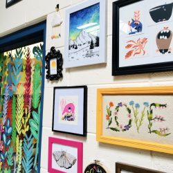 classroom gallery wall