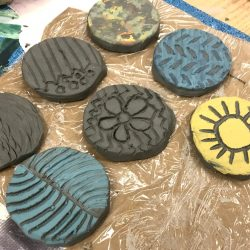 image of clay stamps