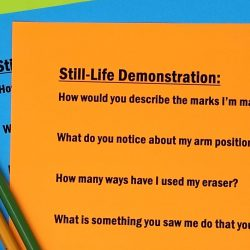 Image of questions about a demonstration