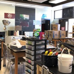 image of art supplies in classroom