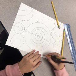 Image of student workin on artwork