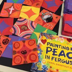 Image of quilt design using paper