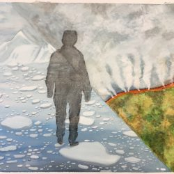 student artwork inspired by Lisa Brice