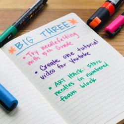 list of three takeaways