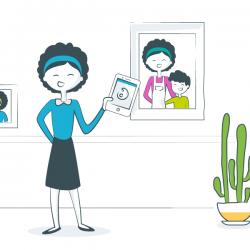 illustration of a parent