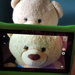 teddy bear and ipad