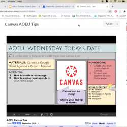 Canvas and google
