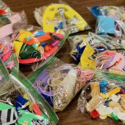 Mystery bags filled with art supplies
