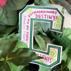 a note of affirmation hidden in a plant