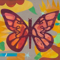 colorful painting of a butterfly