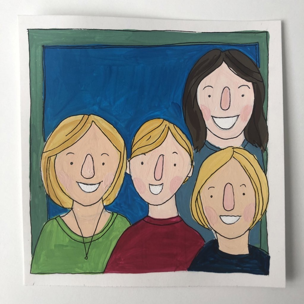 artwork portrait of teachers