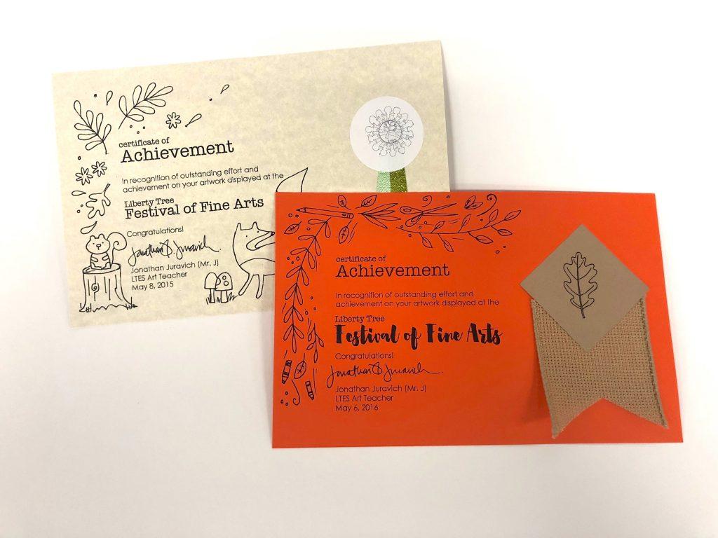 notes of achievement
