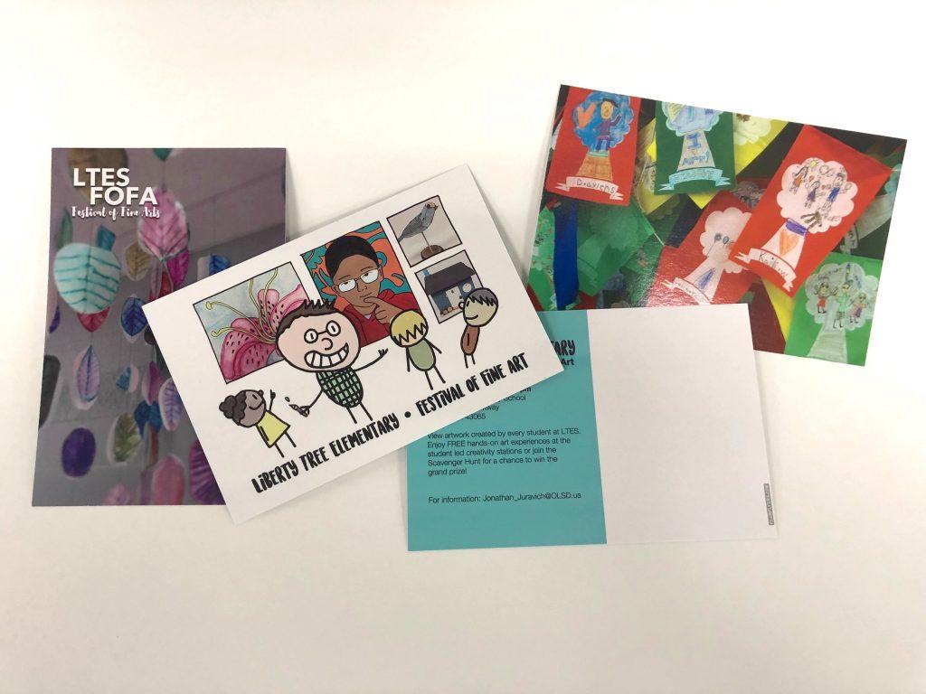 postcards to market an art show