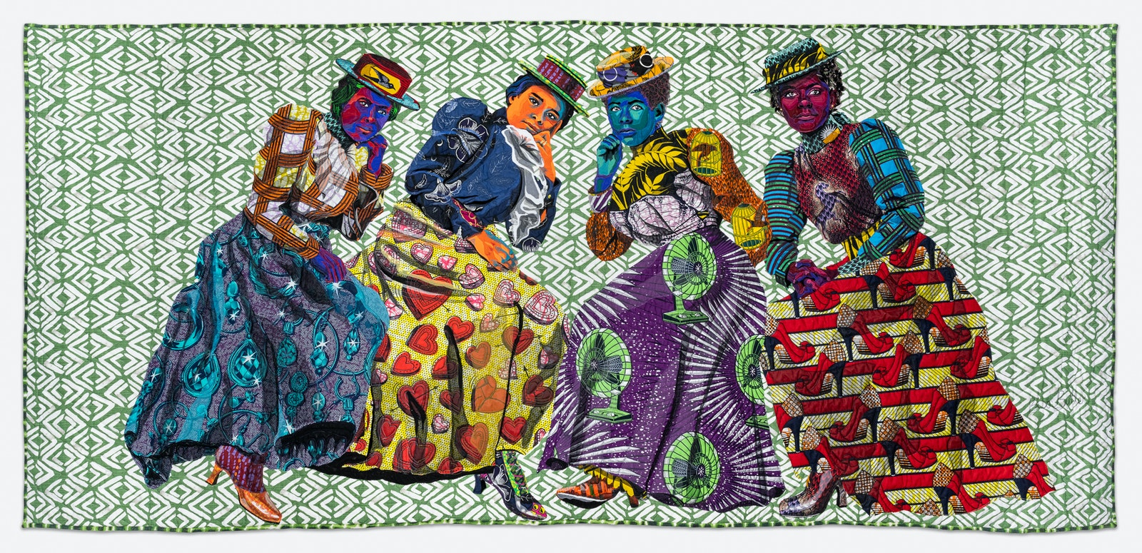 Quilted image by Bisa Butler