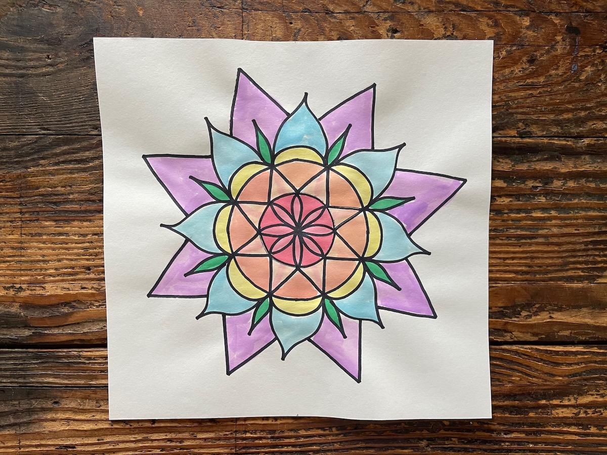 example of mandala flower