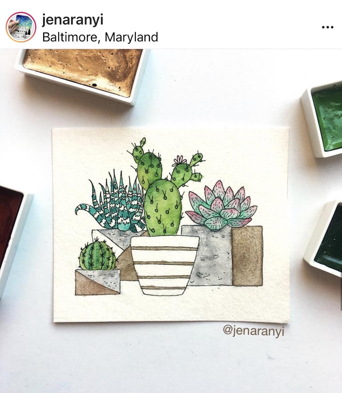 image of Jen Aranyi's instagram feed