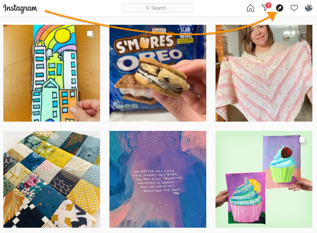 instagram feed from explore function