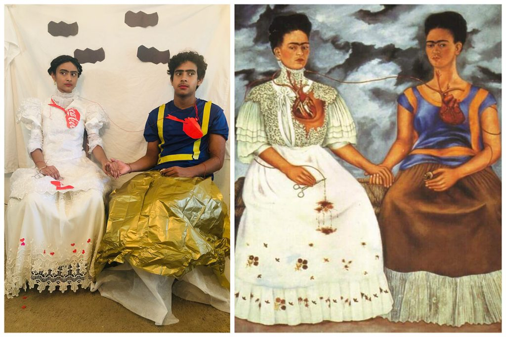 student artwork getty challenge of frida kahlo and the two fridas