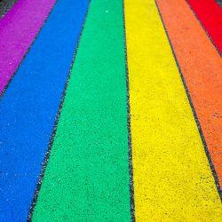 rainbow stripes sidewalk chalk