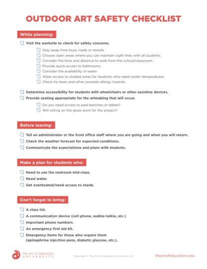https://artofed-uploads-prod.nyc3.cdn.digitaloceanspaces.com/2021/07/Outdoor-Art-Safety-Checklist.pdf