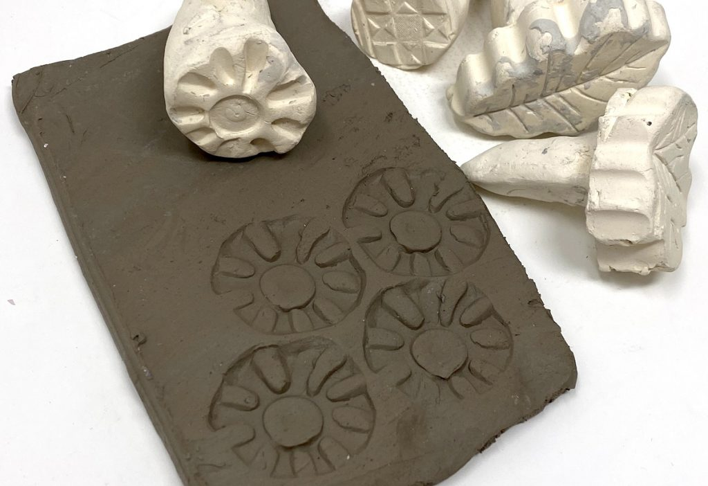 clay slab with stamps