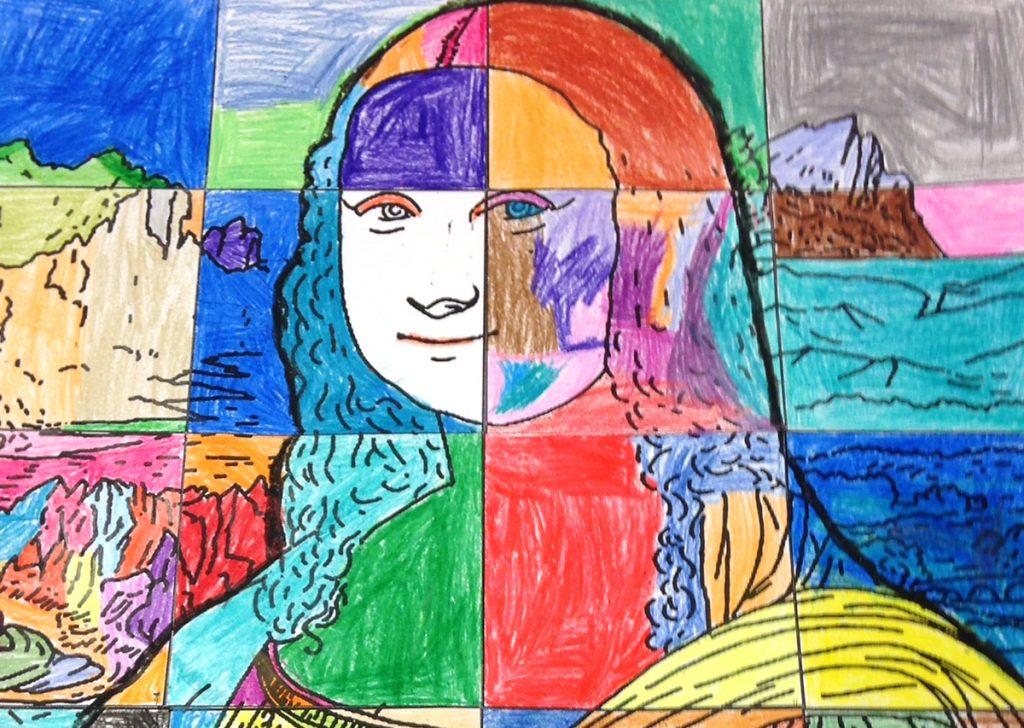collaborative drawing of the mona lisa
