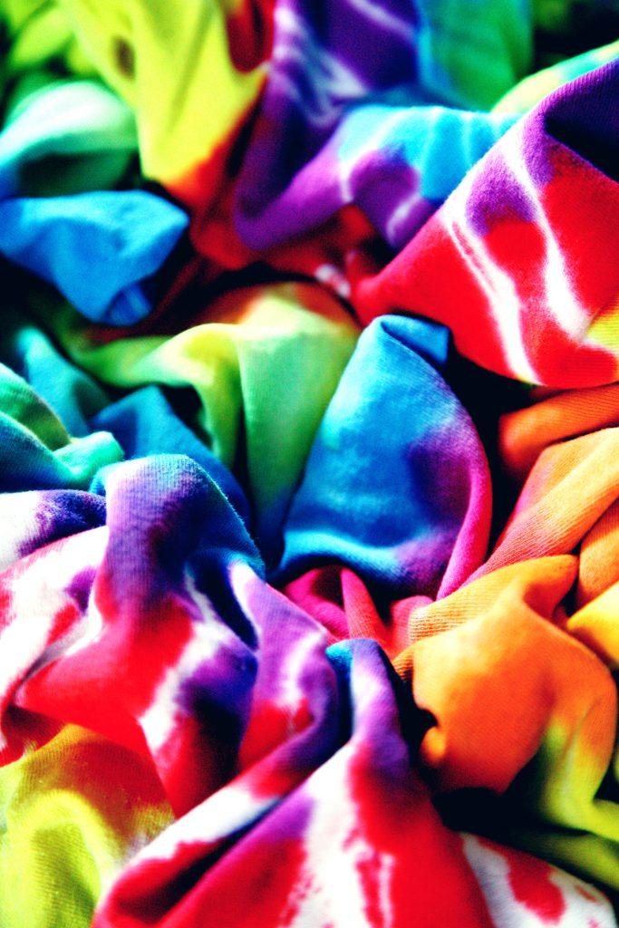 pile of tie dye
