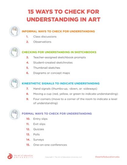 https://artofed-uploads-prod.nyc3.cdn.digitaloceanspaces.com/2021/08/15-Ways-to-Check-for-Understanding-in-Art.pdf