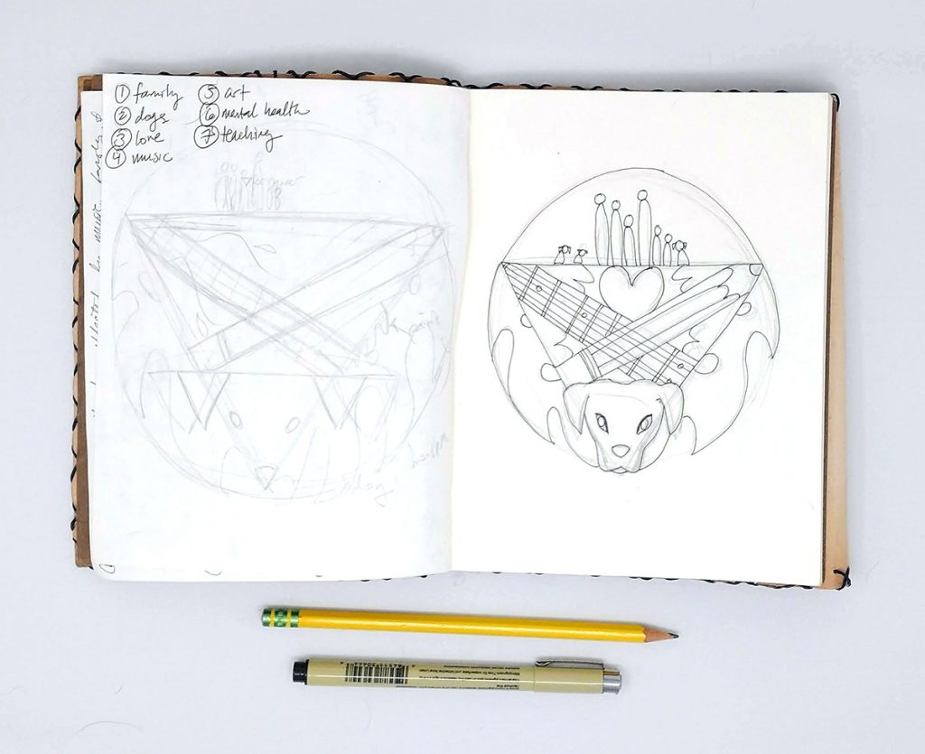 sketch in sketchbook